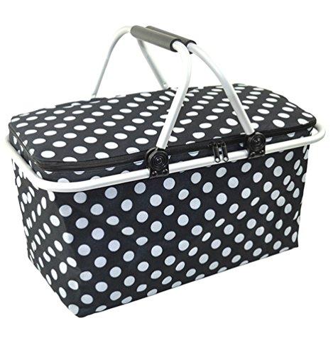Dexinx Wasserdicht Robust Picknick-Box Staubdicht Lunchbox Geschlossen Weich Tasche Schwarz 48 * 28 * 24cm