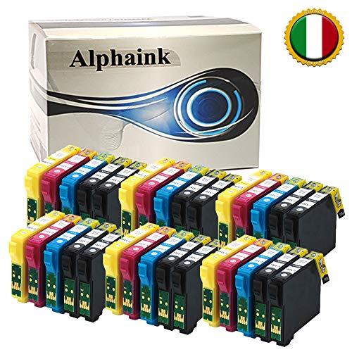 20 Cartucce Alphaink Compatibili per Epson T1281 T1282 T1283 T1284 T1285 per Epson Stylus SX235W SX130 SX125 Epson Stylus Office BX305FW SX430W BX305FW SX420W