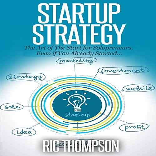 Startup Strategy audiobook cover art