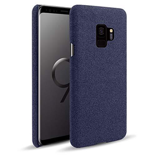 MOONCASE Capa para Galaxy S9, capa de proteção ultrafina com textura de tecido macio antiimpressões digitais à prova de choque para Samsung Galaxy S9 5,8 polegadas (azul)