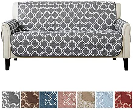 Best Home Fashion Designs Reversible Sofa Cover for Living Room. Oversized, Couch Furniture Protector wit