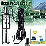SHIJING Solarwasserpumpe 24V / 48V 200W / 280W 16L / Min 60m Tiefbrunnen Tauchpumpe Bewässerungspumpe Tiefbrunnenpumpe für den Garten.2