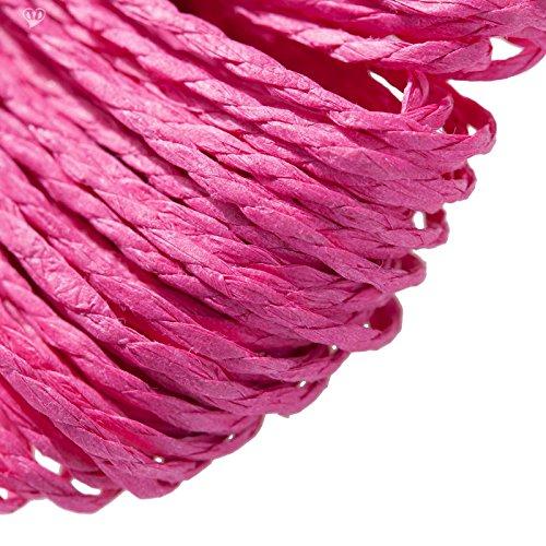 30m Papierschnur Papierkordel Bastelschnur Papierschnur gedreht, Farbwahl, Farbe:magenta