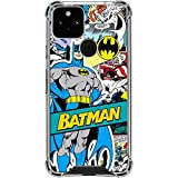 Skinit Clear Phone Case Compatible with Google Pixel 5 - Officially Licensed Warner Bros Batman Comic Book Design