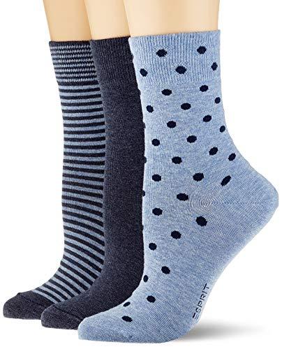 ESPRIT Damen Fashion Easy 3-Pack W SO Socken, Mehrfarbig (sortiment 0020), Einheitsgröße (DE 36-41) (3er Pack)