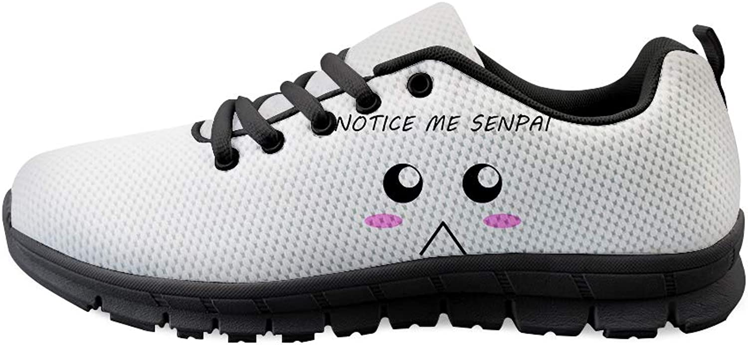 Owaheson Lace-up Sneaker Training shoes Mens Womens Notice Me Senpai Poor Face