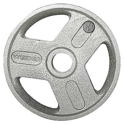 Weider HOPH25 25 lbs Olympic Handle Hammertone Plate44; Gray