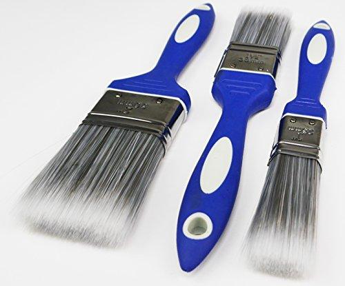 Pinsel-Set 3er Set - Für alle Farben und Lacke geeignet - Renovier-Set Malerset Renovierung Set Streich-Set