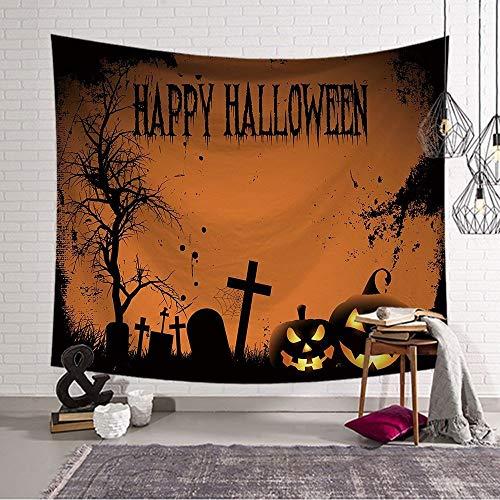 Tapestry Wall Hanging Nordic Cartoon Halloween Party Psychedelic Spirituellen Hippie Groß Halloween Muster (33) Bedruckte Gewebe Für Zu Hause Schlafzimmer Flur Küche Wohnzimmer Bibliothek Kunst DEK