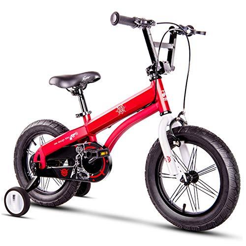 YumEIGE Kinderfiets 14 16 inch fiets aluminium frame kinderfiets kinderfiets met trampoline geschenk voor kinderen 2-8 jaar rood verkrijgbaar