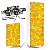 "posterdeluxe 12400[C] Kühlschrank- / Spülmaschinen-Aufkleber ""Orangen"" 65 cm x 220 cm"