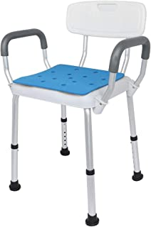 Bathroom Stool with Safety Aid Shower Holder, Aluminum Alloy Adjustable Height Bath Chair, for Elderly Puerpera
