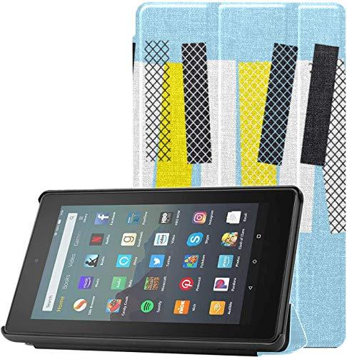 Funda para Tableta Fire 7 HD, teclados de Piano y Piano, Funda Kindle Fire 7 2019 para Tableta Fire 7 (novena generación, versión 2019), Liviana con Reposo automático/activación