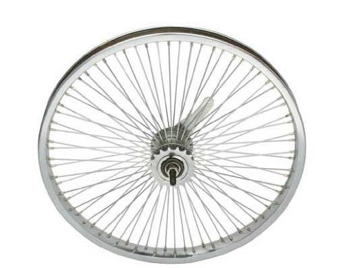 Lowrider 20' 72 Spoke Coaster Wheel 14G Chrome. Bicycle Wheel, Bike Wheel, Bike Wheel, Bicycle Wheel, BMX, Free Style, Chopper, cuiser, Bike Part, Bicycle Part