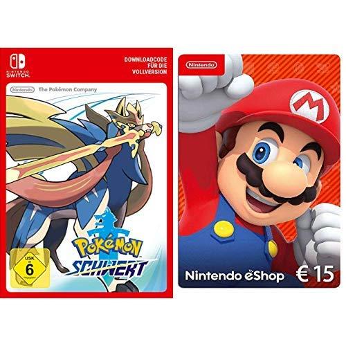 Pokémon Schwert [Switch Download Code] + Nintendo eShop 15 EUR Guthaben [Download Code]