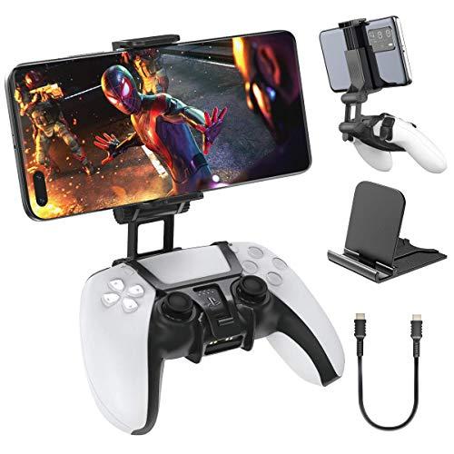PS5スマホホルダー PS5携帯ホルダー OIVO PS5コントローラー用スマホホルダー PS5マウントホルダー PS5スマホクリップ IOS/Android対応