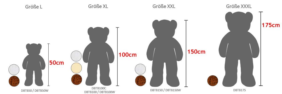 Deuba Oso de Peluche Gigante Marrón XL 100 cm Osito Suave y ...