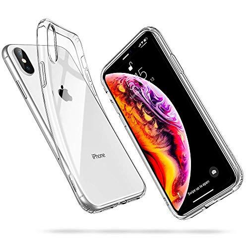 ESR Coque iPhone XS Max, iPhone XS Max Coque Transparente Gel Silicone TPU Souple, Bumper Housse Etui de Protection Premium pour iPhone XS Max 2018 6,5 Pouces (Série Jelly, Transparent)