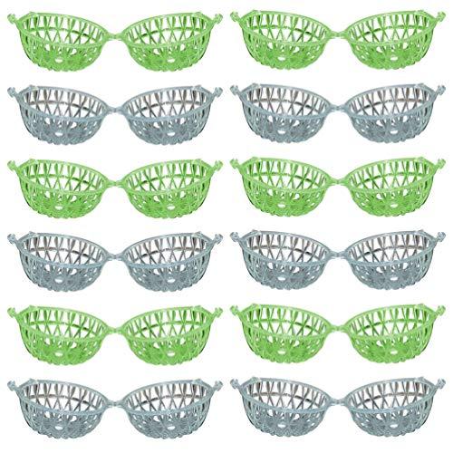 Cabilock 50 Piezas Insecto Mariposa Hábitat Jaula Plástico Bicho Casa Terrario Portátil Saltamontes Grillo Caja para Almacenamiento de Exploración de Naturaleza Al Aire Libre (Color