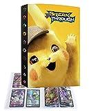 Album Classeur Porte Titulaire Carte Compatible Avec Cartes Pokemon V, Classeur portable pour cartes à collectionner, 30 pages peuvent contenir 240 cartes (240P-66)