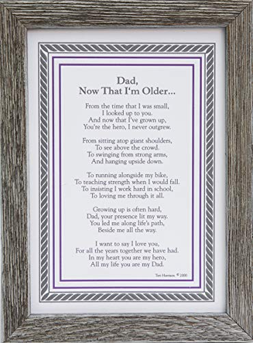 Dad, Now That I'm Older- Sentimental Gift for Dad from Son Or Daughter...
