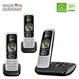 Gigaset C630A TRIO - Premium Cordless Home Phone with Answer Machine and Nuisance