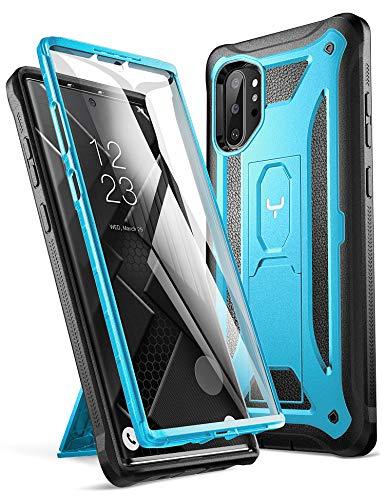 Preisvergleich Produktbild YOUMAKER Schutzhülle für Galaxy Note 10 Plus,  integrierter Bildschirmschutz,  funktioniert mit Fingerabdruck-ID-Kickständer,  robust,  stoßfest,  für Samsung Galaxy Note 10 Plus 6, 8 Zoll (2019),  blau