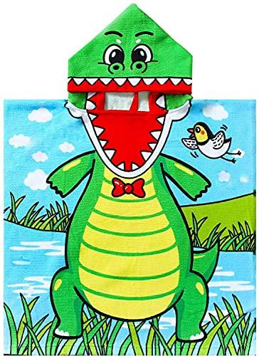 JFAN Accappatoio Piscina Bambino Spiaggia Cappuccio Cartoon Animato Bagno Ragazzi Bello Multi-stile Protezione Solare Doccia Nuotare Asciugamano 2-10 Anni