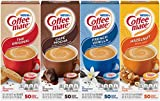 Coffee Mate Liquid .375oz, 4 Flavor Variety 200 Count including Original, Cafe Mocha, French Vanilla & Hazelnut