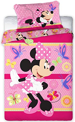 Disney 094 Minnie Maus Baby Wende-Bettwäsche Set 100 x 135cm
