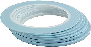 マスキングテープ 高耐熱塗装マスキングテープ 自動車 車両塗装養生テープ ビニール基材1mm 1.5mm 2mm 2.5mm 3mm 4mm幅 (6巻入)