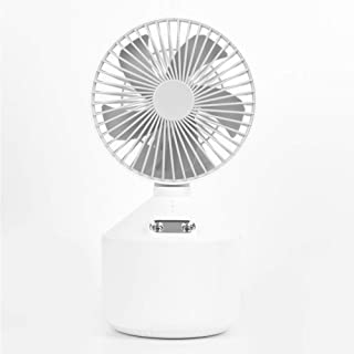 USB Silence Table Fan Rechargeable Double Spray Fan 5 Speeds 2 Spray Mode 45 ° Adjustment Humidification Fan with 4000Mah ...