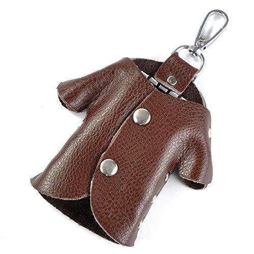 MCYNQ Housekeeper Wallet Car Key Portafoglio Titolare Donna Uomo Vera Pelle Unisex Chiave Viola Organizer Bag Titolare della Carta, caffè