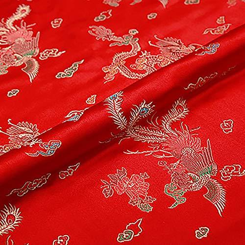 MUYUNXI Tela De Raso Forro De Tela para Vestidos De Novias Fundas Artesanías Vestidos Blusas Ropa Interior 75 Cm De Ancho Vendido por Metro(Color:Rojo)