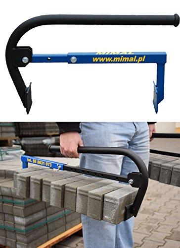 Mimal Steinträger Steingreifer Ziegelzange Greifzange für Pflasterer 275-500mm (CHC)