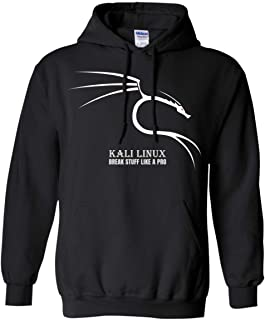Kali Linux Break Stuff Like A Pro Dragon Backtrack Ético Hacking Novelty Sudadera con capucha, color negro