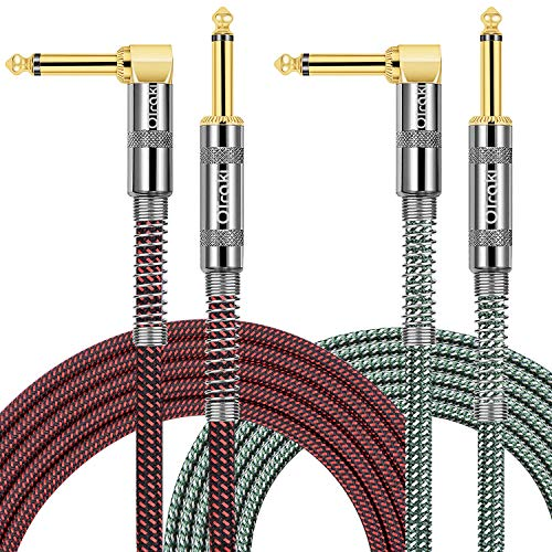 Cable Guitarra Eléctrica 3 Metro, OTraki 2 Pack Jack Cable Instrumento 10Ft...