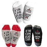 6 Pairs Watching Christmas Movie Socks Letters Printed Women Warm Sock