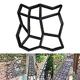 Stampo per Vialetto da Giardino Stampo per Cemento Forma per Selciato in Cemento o Pietra Pavimentazione Esterna Pietra Pavimenti Giardino Pavimentazione Fai da Te 35 X35 cm