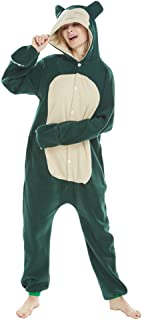 Pijama unisex de animal para adulto, disfraz de Halloween con capucha