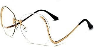 Oversized Sunglasses,Rimless Candy Color Eyewear PC Lens UV400