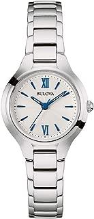 Bulova Women's Quartz Watch Metal Bracelet analog Display and Stainless Steel Strap, 96L215