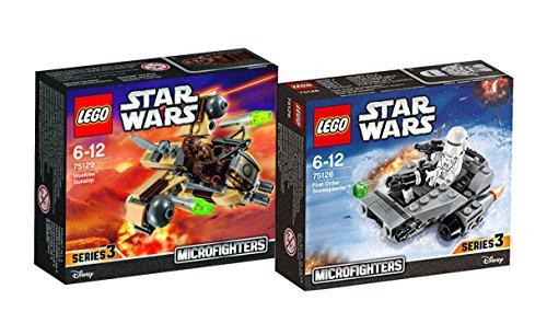 Lego Star Wars Microfighters Set - 75126 First Order Snowspeeder mit Snow-Trooper + 75129 Wookiee Gunship mit Chewbacca als Minifigur
