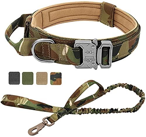 DHGTEP Collar De Perro Táctico Ajustable De Nylon Militar Correa para Perros Medianos Y Grandes Pastor Alemán De La Formación De La Caza (Color : Multi-Colored, Size : M)