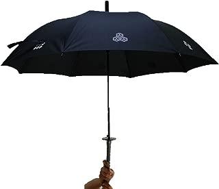 Umbrella Ninja Samurai Sword Style Japanese Japan Anime Mt.Fuji Black