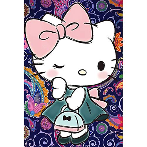 Anime Hello Kitty Cartoon legpuzzels, Decompressie puzzels in Hand Family Interactive Games, 300/500/1000 Pieces 508 (Color : C, Size : 1000pc)