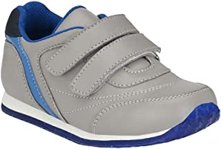 Hopscotch Tuskey Shoes Boys Genuine Leather/Lining Mesh Double Strap Closure Shoe in Gray Color