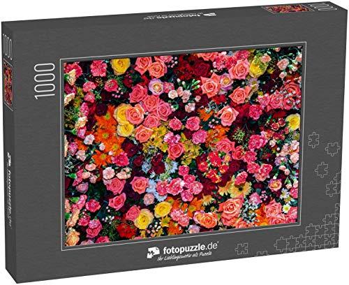 Puzzle 1000 Teile Schöne Blumen Textur Natur Bunte Hintergrund - Klassische Puzzle, 1000 / 200 / 2000 Teile, edle Motiv-Schachtel, Fotopuzzle-Kollektion 'Flora'