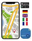 musegear Schlüsselfinder mit Bluetooth App aus Deutschland I Maximaler Datenschutz I hellblau 1er...