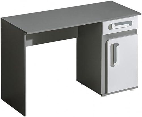 Mirjan24  Schreibtisch Apetito AP09 mit Schublade, Schülerschreibtisch, Arbeitstisch, Kinderschreibtisch, PC-Tisch, Computertisch für Jugendzimmer (Anthrazit Weiß)